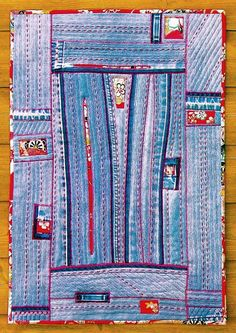 Liberated Quilting  Reconstruction no.1 - Denim Art Quilt by BooDilly's, via Flickr