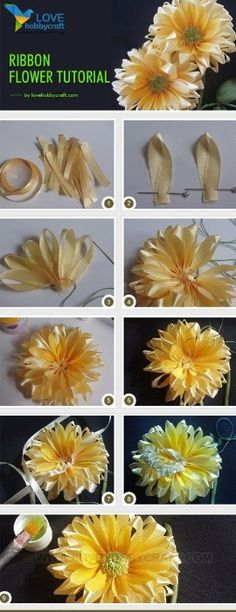 Ribbon Flower Tutorial #Various #Trusper #Tip