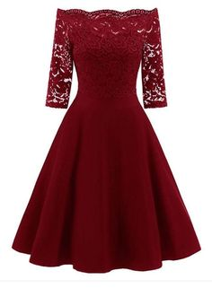 online shopping for Women Vintage Lace Patchwork Off Shoulder Cocktail Party Retro Swing Dress from top store. See new offer for Women Vintage Lace Patchwork Off Shoulder Cocktail Party Retro Swing Dress Vestidos Vintage, Vintage Dresses, Vintage Lace, Wedding Vintage, Tutu En Tulle, Site Mode, Robes Tutu, Elegant Midi Dresses, Lace Dresses