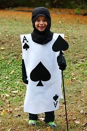 Wonderland-Show-Unisex-SPADE PLAYING CARD TABBARD with BERET Costume All Ages