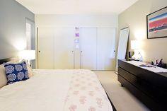 bed, dresser, mirror, lamp set up - Sarah's Modern Global Loft House Tour | Apartment Therapy