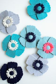 Mollys Sketchbook: Anemone Magnets - The Purl Bee - Knitting Crochet Sewing Embroidery Crafts Patterns and Ideas!