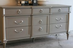 Annie Sloan Coco paint-  I want to use this color for the kid's night stands and the one in the guest room :-)