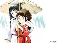 Spirited Away. Possibly my favorite Miyazaki film. Hayao Miyazaki, Studio Ghibli Art, Studio Ghibli Movies, Chat Bus, Spirited Away Wallpaper, Anime Manga, Anime Art, Chihiro Y Haku, Grave Of The Fireflies