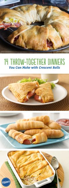 14 Throw-Together Dinners You Can Make with Crescent Rolls: It's hard enough to get home in time for dinner, let alone make it! That's why we're sharing our quickest crescent dinners.