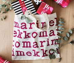 Post with 59 views. Free gift wrapping, if you spend a Marimekko Dress, My Style Bags, End Of Season Sale, Christmas Design, Simple Style, Printing On Fabric, Christmas Stockings, Gift Wrapping, House Design