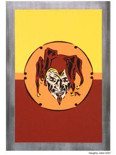Naughty joker. 2001 Stencil Graffiti, Ferrari Logo, Stencils, Artworks, Street Art, Joker, Logos, Art Pieces, Jokers