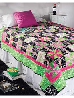 Quilting - Bed Quilt Patterns - Pieced Quilt Patterns - Pinwheel Fantasy