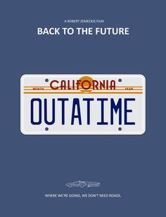 BACK TO THE FUTURE - DE VOLTA PARA O FUTURO - PLACA » Leo Romeu