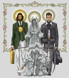 Edgar Clement (b. Mexico City, Mexico, 1967): La Trinca (The Holy Trio), 2010 https://news.vice.com/article/narco-saints-are-melding-catholicism-with-the-drug-war-in-latin-america