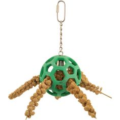 Can also stuff them with treats that have been wrapped in paper towel. Assorted Brands Hol-ee Roller - Foraging Toy for Parrots