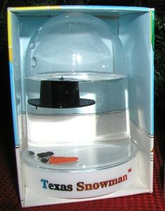 Texas snow man