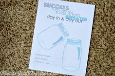 Free Mason Jar Weight Loss Printable for your planner! Best Weight Loss Plan, Easy Weight Loss, Losing Weight, Loose Weight, How To Lose Weight Fast, Weight Loss Journal, Planner Organization, Planner Diy, Planner Ideas
