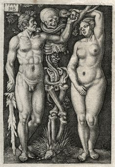 Hans Sebald Beham, Adam and Eve, 1543.