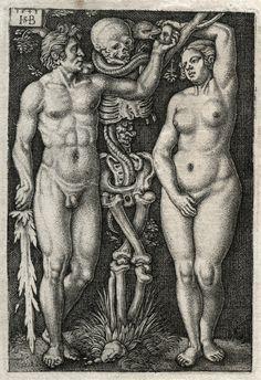 Hans Sebald Beham, Adam and Eve, 1543.