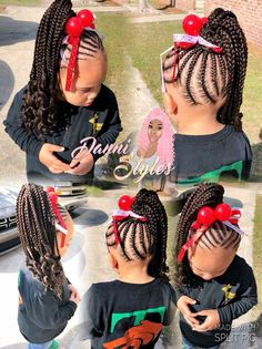 Do you want the most trendy and contemporary design for your kid? Most recent woolhairstyles are great idea for child's look. Little Girl Braid Styles, Kid Braid Styles, Little Girl Braids, Black Girl Braids, Braids For Kids, Braids For Black Hair, Girls Braids, Kid Styles, Lil Girl Hairstyles