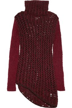 Helmut Lang | Chunky open-knit wool-blend sweater | NET-A-PORTER.COM