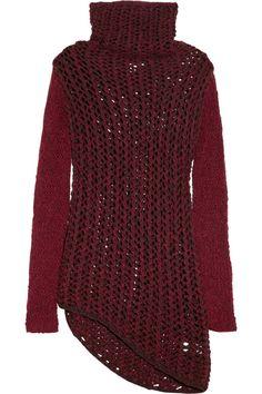 Helmut Lang Chunky open-knit wool-blend sweater NET-A-PORTER.COM