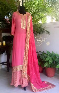 Colors & Crafts Boutique™ offers unique apparel and jewelry to women who value versatility, style and comfort. We specialize in customized attires crafted in high quality fabric and craftsmanship. Please note: These are not our designs. We can custom make Pakistani Outfits, Indian Outfits, Indian Dresses, Kurta Designs Women, Blouse Designs, Dress Designs, Anarkali, Sharara, Salwar Kameez
