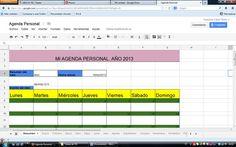 Mi agenda personal. Google Drive