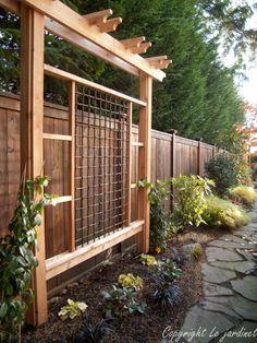 MEET ME IN THE GARDEN... Beautiful garden trellis...on the simple side.