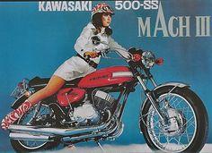 Vintage Honda Motorcycle Parts, Kawasaki, Suzuki And Bombardier Parts Kawasaki 500, Kawasaki Motorcycles, Vintage Motorcycles, Motorcycle Posters, Scooter Motorcycle, Motorcycle Girls, Motorcycle Types, Honda, Japanese Motorcycle