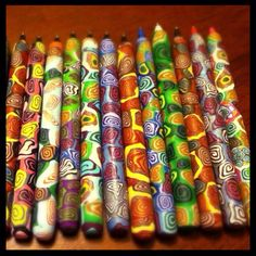Polymer clay pens!!
