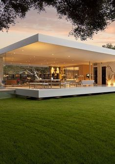 Modern house design - The Most Minimalist House Ever Designed The Glass Pavilion modern home design dream home design architecture Architecture Design, Pavilion Architecture, Mobile Architecture, California Architecture, Modern Architecture House, Modern Buildings, Beautiful Architecture, Building Architecture, Residential Architecture