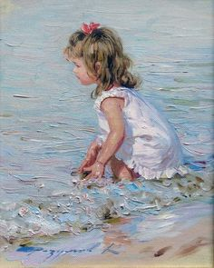 ☀️The Beach ~ Artist Konstantin Razumov, 1974 ~ Impressionist painter Art Plage, Painting People, Painting Art, Painting Lessons, Paintings I Love, Oil Paintings, Impressionist Paintings, Indian Paintings, Abstract Paintings