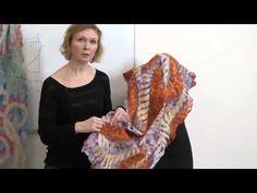Мария Гладченко. Создание палантинов. Выступление на Лаборатории - YouTube