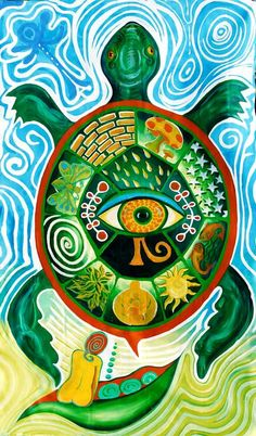 medicine wheel turtle by theresa Native American Prayers, Native American Art, Animal Medicine, In Natura, Turtle Painting, Spirited Art, Turtle Love, Medicine Wheel, Hippie Art
