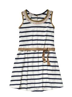 Scotch R´Belle Mädchen Kleid, Jersey dress embellished neckline www.frohtag.de