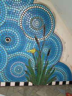 Mosiac Bathroom WIP by Waschbear - Frances Green, via Flickr