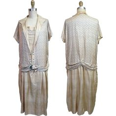 1920s Printed Silk Day Dress from noblesavagevintage on Ruby Lane