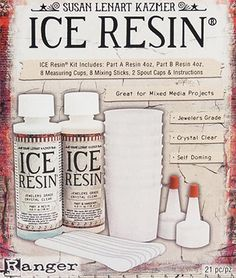 Ice resin beginner 8oz kit with mixing cups sticks instructions jewelry making supplies