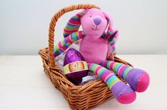 Easter food hamper in a picnic basket httpgiftloft easter bunny luxury easter egg in a basket http negle Image collections