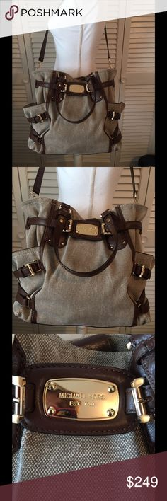 "Michael Kors Beautiful Gansevoort Large Bag. Beautiful Authentic Michael Kors Gansevoort Shoulder Tote (Large). 12"" H x 15"" W with a 16"" shoulder Strap Drop. Shoulder strap is detachable. Retail $498. Purchased at Michael Kors in Nashville, Tn. Used twice. Is in ""like new"" condition. Gorgeous bag. Dust bag not included!!  Selling for 1/2 the retail price! Michael Kors Bags Shoulder Bags"