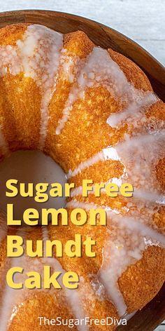 Sugar Free Deserts, Sugar Free Treats, Sugar Free Cookies, Sugar Free Recipes, Lemon Recipes, Stevia Desserts, Low Sugar Desserts, Diet Desserts, No Sugar Foods