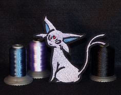 Beautiful Espeon patch.    Flaunt your love for psychic kitties on your favorite attire or bag!