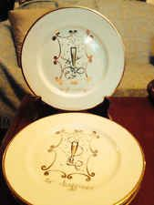 "Set of four ""to friendship"" plates by Rosanna, Made in Italy"