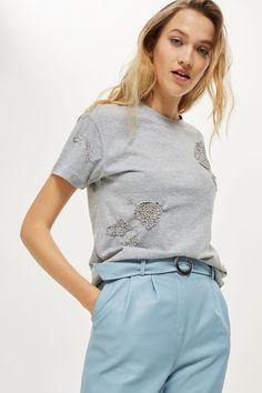 Raw Embellished T-Shirt