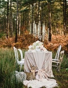 Image result for woodland reception tables