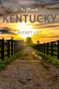 Click here for 90+ places to add to your Ultimate Kentucky Bucket List! #kentucky #bucketlist