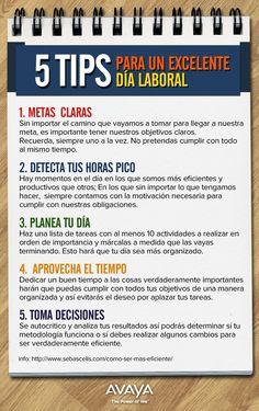 5 Tips para tener un excelente día de trabajo #egresados #umayor #productividad