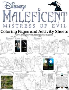 Maleficent 2 Coloring Pages and Activity Sheets for kids are here! Just in time for celebrate the live action movie release in theaters! Maleficent, Aurora, and Prince Phillip are all back for this sequel! Disney Princess Tattoo, Punk Princess, Disney Coloring Pages, Free Printable Coloring Pages, Cartoon Network Adventure Time, Adventure Time Anime, Maleficent Movie, Maleficent Aurora, Activity Sheets For Kids