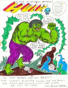 Daniel Johnston, The Incredible Dangerous Hulk Daniel Johnston, Family Trust, Outsider Art, Hulk, Photo Art, Graffiti, The Incredibles, Children, Illustration
