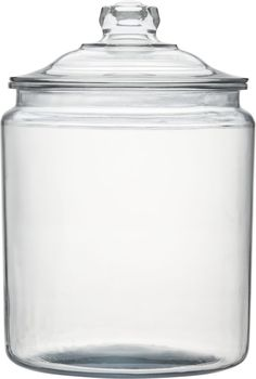 Heritage Hill Two Gallon Glass Jar with Lid in Food Containers, Storage | Crate and Barrel- for nail polish