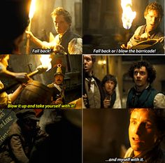 I LOVE Combeferre in this scene. And Grantaire, and Aaronjolras-but Combeferre saying 'My life isn't yours to risk' was just awesome.