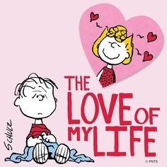The Love of my Life (Sally & Linus) Linus Peanuts, Peanuts Cartoon, Charlie Brown And Snoopy, Peanuts Comics, Snoopy Love, Snoopy And Woodstock, Snoopy Valentine, Valentines, Sally Brown