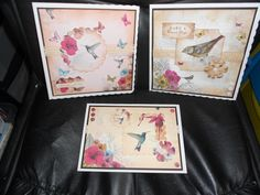 Cards made from Botanica and Paradise collections